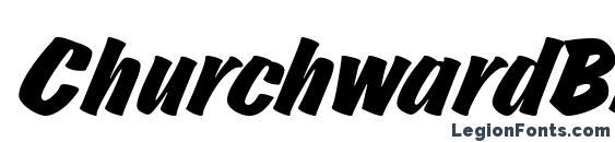 ChurchwardBruDReg Italic Font