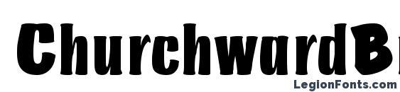 ChurchwardBruDReg font, free ChurchwardBruDReg font, preview ChurchwardBruDReg font