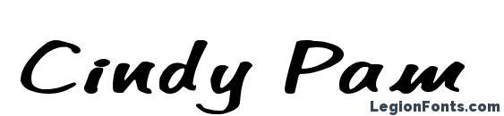 Cindy Pam Marker Regular Font, Cool Fonts