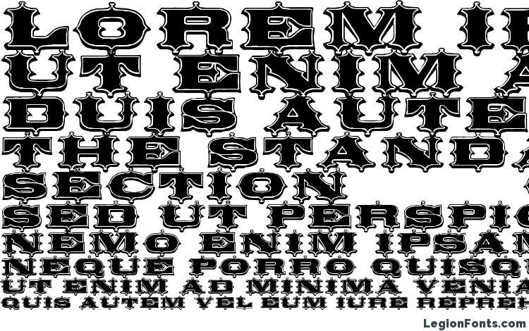 образцы шрифта Circus Ornate, образец шрифта Circus Ornate, пример написания шрифта Circus Ornate, просмотр шрифта Circus Ornate, предосмотр шрифта Circus Ornate, шрифт Circus Ornate