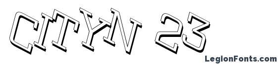 Cityn 23 Font, 3D Fonts