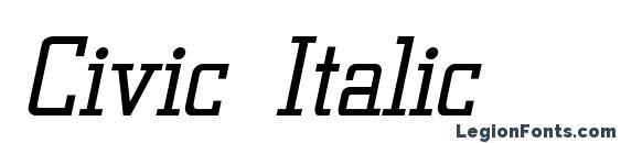 Civic Italic Font