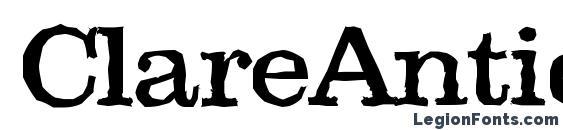 шрифт ClareAntique, бесплатный шрифт ClareAntique, предварительный просмотр шрифта ClareAntique