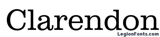 Clarendon Light BT Font