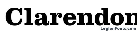 ClarendonLTStd Bold Font