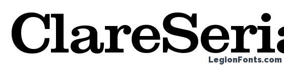 ClareSerial Medium Font