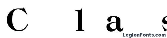 Classica Heavy Regular Font