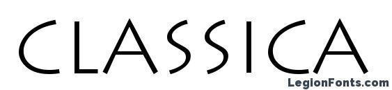Шрифт Classica