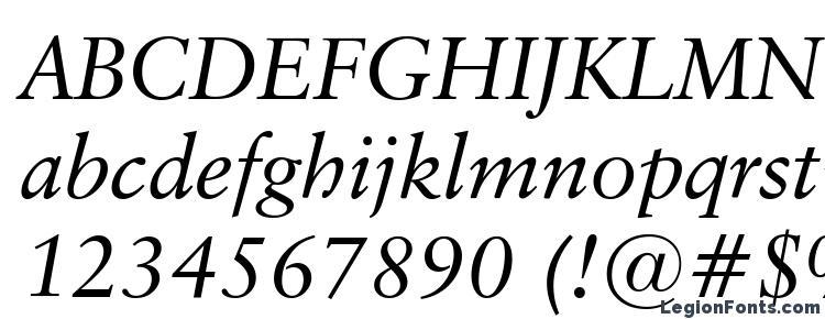 classical garamond italic font