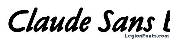 Claude Sans Bold Italic LET Plain.1.0 Font