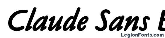 Шрифт Claude Sans Bold Italic Plain
