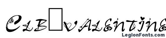 Шрифт Clb.valentine