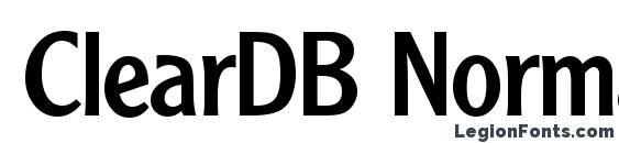 ClearDB Normal Font