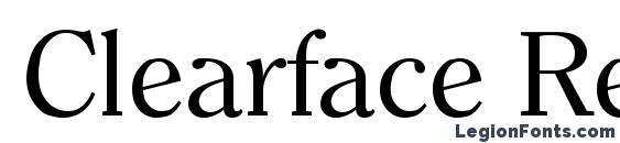 Clearface Regular Font