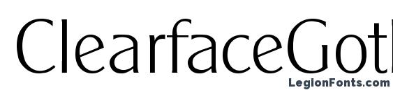 ClearfaceGothicLH Regular Font
