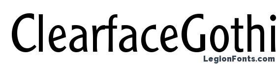 ClearfaceGothicLTStd Light Font