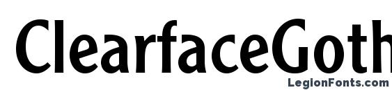ClearfaceGothicLTStd Roman Font