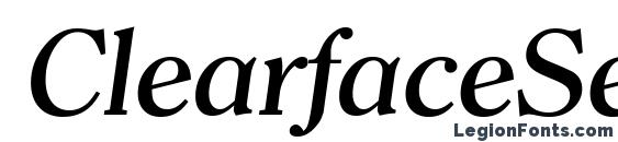 Шрифт ClearfaceSerial Medium Italic
