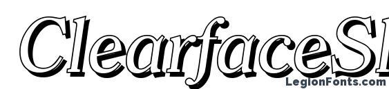 Шрифт ClearfaceShadow Italic