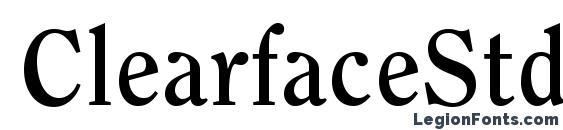 ClearfaceStd Bold Font