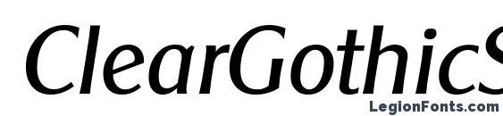 Шрифт ClearGothicSerial Italic
