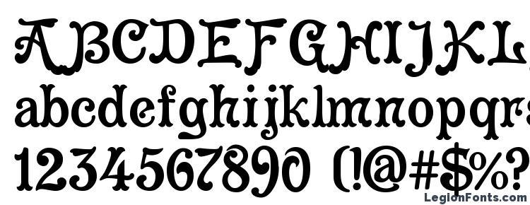 глифы шрифта Cleopatra, символы шрифта Cleopatra, символьная карта шрифта Cleopatra, предварительный просмотр шрифта Cleopatra, алфавит шрифта Cleopatra, шрифт Cleopatra