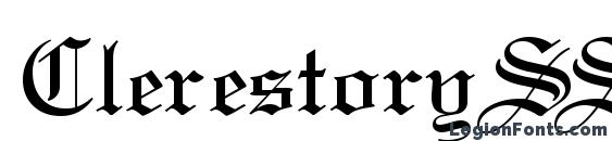 шрифт ClerestorySSK, бесплатный шрифт ClerestorySSK, предварительный просмотр шрифта ClerestorySSK