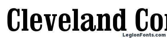 Cleveland Condensed Font