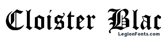 Cloister Black Light Font, Tattoo Fonts