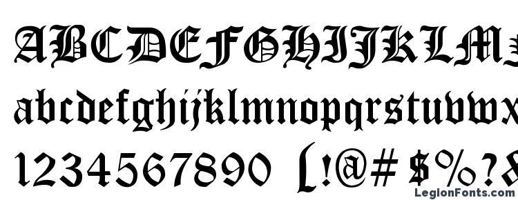 глифы шрифта Cloister Black, символы шрифта Cloister Black, символьная карта шрифта Cloister Black, предварительный просмотр шрифта Cloister Black, алфавит шрифта Cloister Black, шрифт Cloister Black