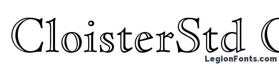 CloisterStd OpenFace Font