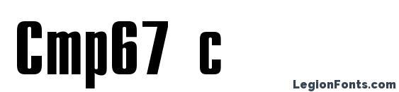 Cmp67 c Font