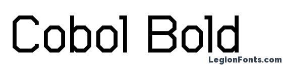 Cobol Bold Font