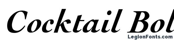 Cocktail Bold Italic Font