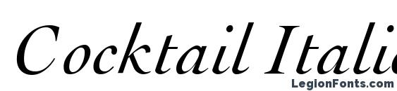 Cocktail Italic Font, Cursive Fonts