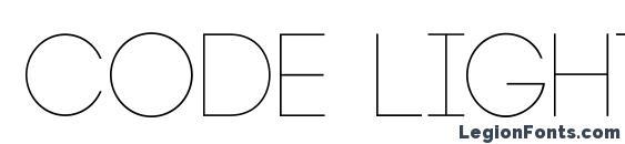 шрифт Code Light, бесплатный шрифт Code Light, предварительный просмотр шрифта Code Light