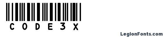 Шрифт CODE3X