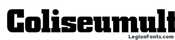 Coliseumultrablackc Font