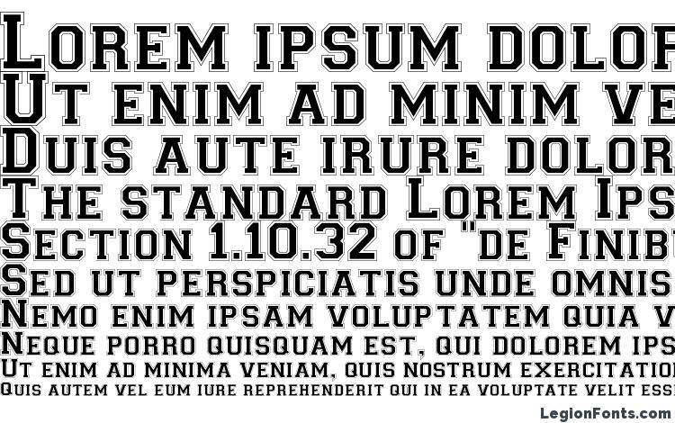 specimens Collegiate Norm font, sample Collegiate Norm font, an example of writing Collegiate Norm font, review Collegiate Norm font, preview Collegiate Norm font, Collegiate Norm font