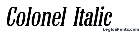 Colonel Italic font, free Colonel Italic font, preview Colonel Italic font