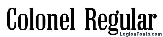 Colonel Regular Font