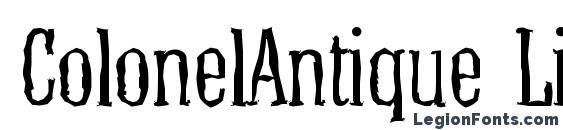 ColonelAntique Light Regular Font