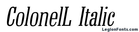 ColonelL Italic Font