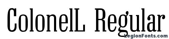 ColonelL Regular font, free ColonelL Regular font, preview ColonelL Regular font