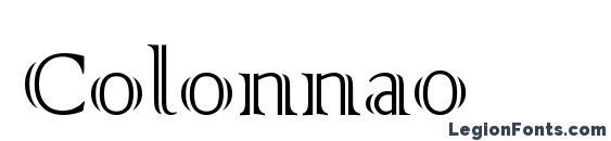 шрифт Colonna0, бесплатный шрифт Colonna0, предварительный просмотр шрифта Colonna0