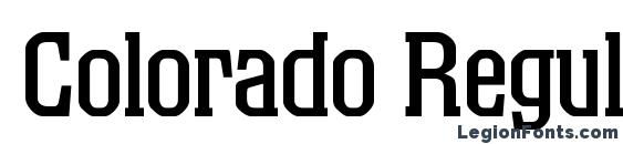 Colorado Regular DB Font