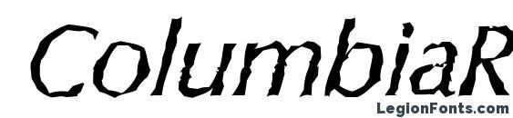 ColumbiaRandom Italic Font