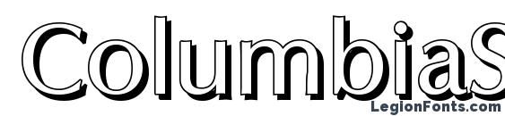 ColumbiaShadow Regular Font