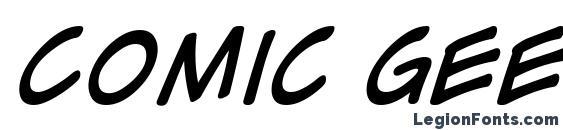 Comic Geek Italic font, free Comic Geek Italic font, preview Comic Geek Italic font