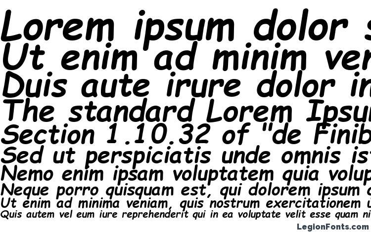Comic Sans Ms Poluzhirnyj Kursiv Font Download Free Legionfonts